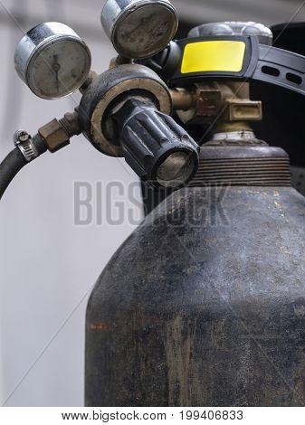 Gas cylinder close up