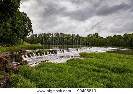 Venta waterfall near Kuldiga, Latvia. The widest waterfall in the Europe.