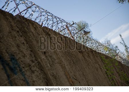 Security wire jail safety abstract freedom limit