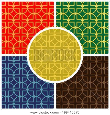 Multi color Seamles Pattern. Vector illustration Background.
