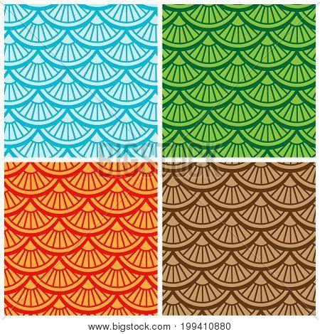 Multi color Seamless Pattern. Vector illustration Background.