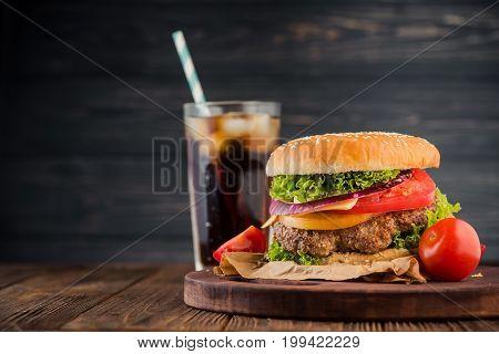 Delicious Fresh Burger With Tomato