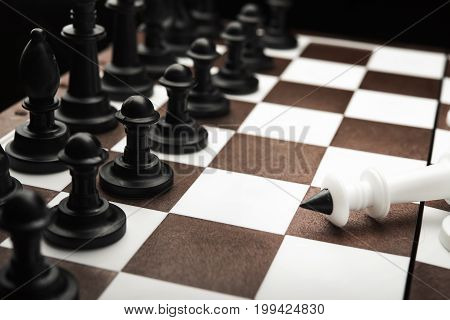 Defeated White Chess King