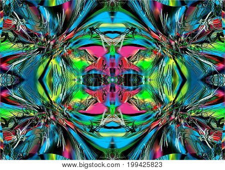 Alien. Mysterious eyes In the picture with the help of different colors in the form of Imagination and abstraction is depicted the head of an alien with mysterious eyes.