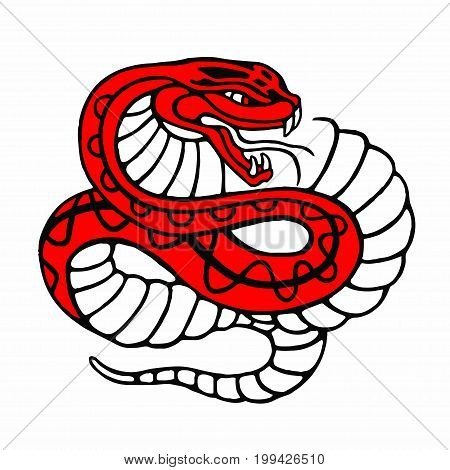 Snake vector character illustration isolated on white.