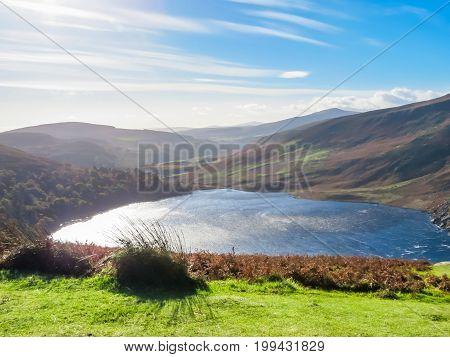 Lake Lough Tay Or The Guinness Lake, Ireland