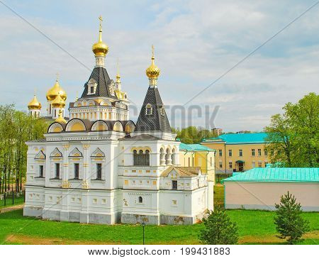 Architecture of the ancient Russian city of Dmitrov
