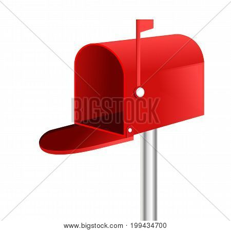 Vector of 3D red mailbox illustration .