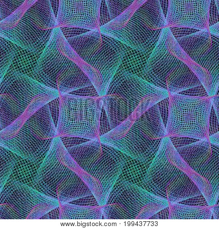 Blue seamless abstract computer generated fractal pattern