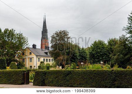 Uppsala's main landmark - The Cathedral (Uppsala domkyrka) and Carl Linnaeus Garden