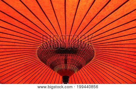 Traditional Red Umbrella For Decorations