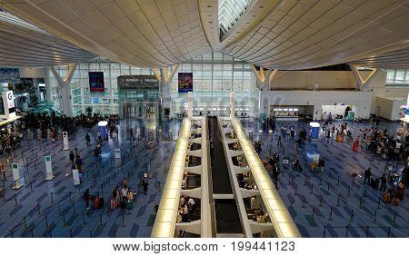Inside Of Haneda Airport In Tokyo, Japan