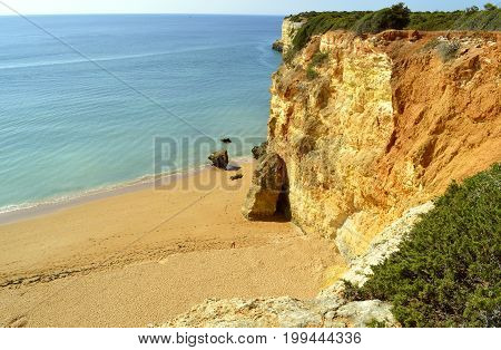 Senhora Da Rocha Nova Beach in Portugal