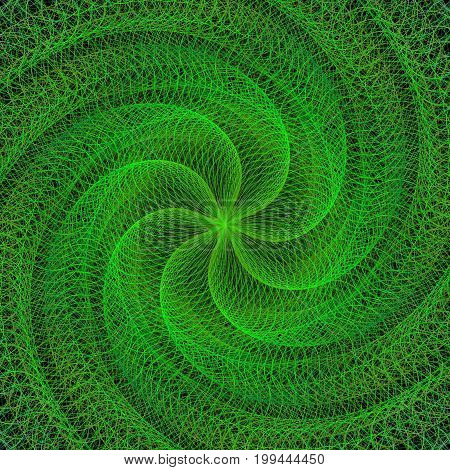 Green computer generated digital graphic design background