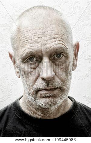 Portrait Of A Sad Man