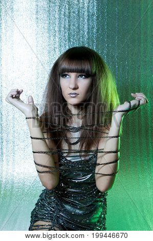 Girl With Metal Fetters