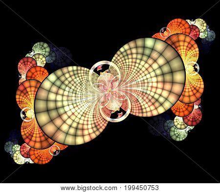 Computer generated fractal artwork with neverending spirals
