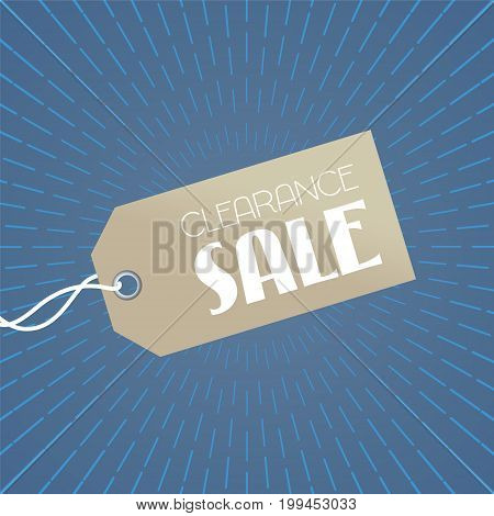 Store closing vector illustration, background with price tag. Template banner, design element for clearance sale