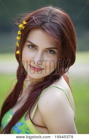 Portrait Of Summer Girl