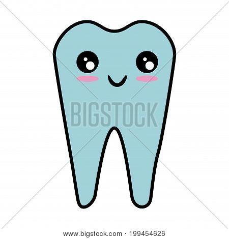 Dental care symbol kawaii cartoon vector illustration graphic design