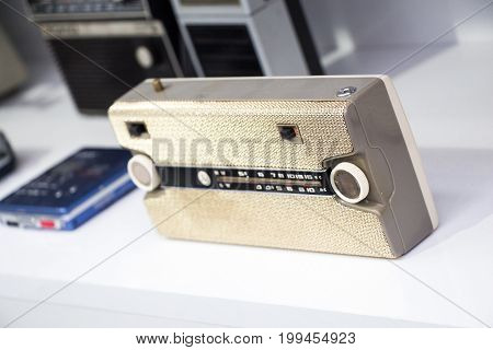 Retro Styled Image Of  Old Radio