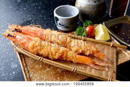 Deep Fried Shrimp In Japanese Style Or Ebi Furai.
