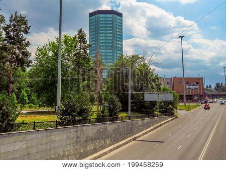 Almaty - Architecture Along Abay Avenue