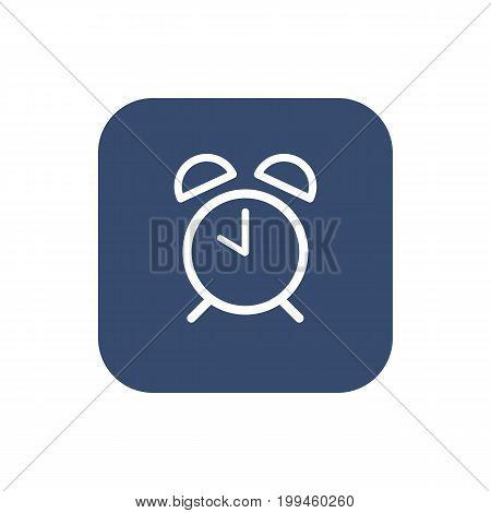 Alarm clock icon. Flat linear design. Vector illustration
