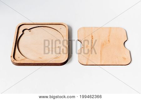 Wooden Cd Case: Timber Cd Packaging For Photographers. Light Box With A Cover