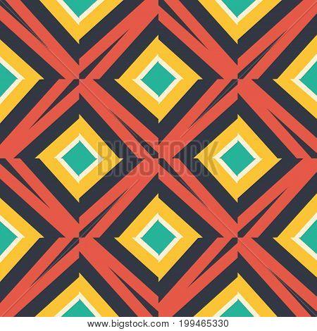 African Geometric Simplistic Naive Pattern. Vector illustration.