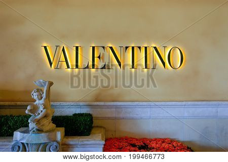 Las Vegas, Usa - June 13, 2017: Valentino Fashion Store