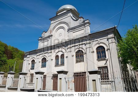 Exterior of Synagogue building in Kaunas city, Lithuania.
