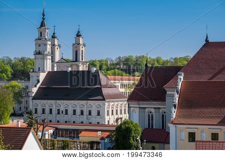 View Of Town Hall, Church Of St. Francis Xavier, Bernardine Monastery And Old Town Of Kaunas, Lithua