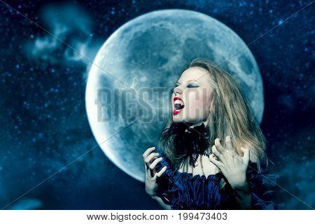 Aggressive Vampire Girl