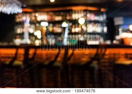 Blur Vision Perspective View Of A Drunk Person In Pub
