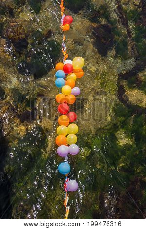 Balloons As Targets On Water