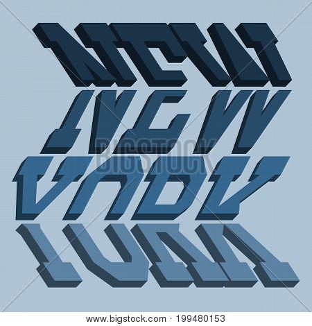NYC typography, t-shirt graphics, sport emblem design, s