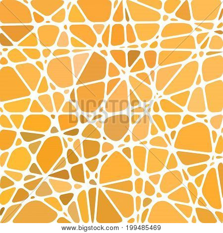 abstract vector stained-glass mosaic background - orange