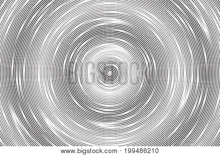 Hypnotic Spiral Vector Abstract Background. Radial Structure Art Illustration