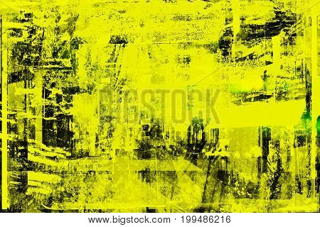 Stylish Trendy Faded Damaged Texture. Fashionable Grunge Print With Worn Effect. Modern Wallpaper. C