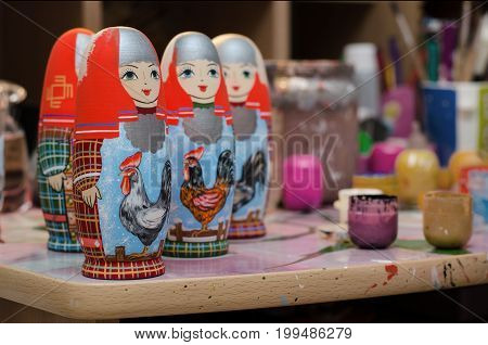 The Artist's Studio. Dolls Matryoshka