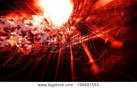 3D rendering of futuristic technology background