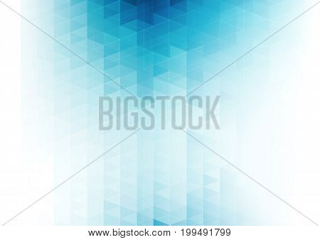 Vector color abstract geometric banner with triangle. For business and technology brochure, poster, leaflet design. Blue triangles mosaic pattern