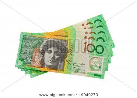 Australian Currency $500 Dollars Isolated On White