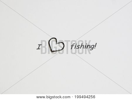 Inscription - I love fishing. Inscription - I love fishing.