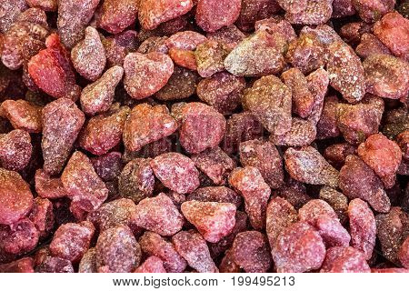 Turkish delights dried fruits, food in bulk background