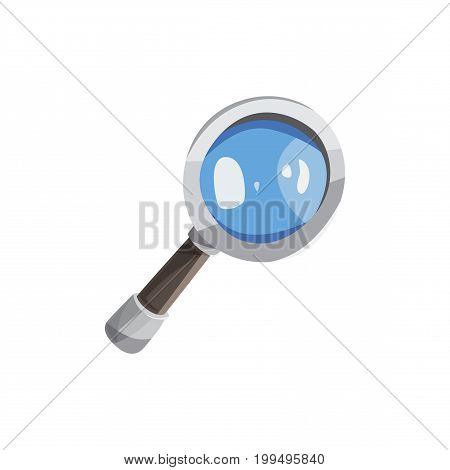 magnifying glass icon. Blue search Icon. Magnifying glass icon