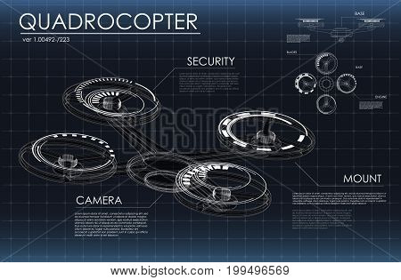 Head-up display elements for the web and app. Futuristic user interface. Virtual graphic. HUD quadrocopter