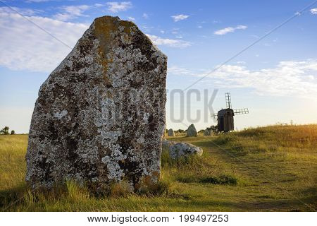 Grave field at  Oland, Sweden