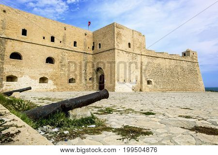 Mahdia.Tunisia.May 23 2017.The fortress of Borj El Kebir in Mahdia.